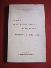 TEXTES DE L'ECRITURE SAINTE ET DES PERES / 1942
