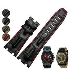 Genuine Leather Watch Band Strap For Audemars Piguet Royal Oak Offshore Chronogr