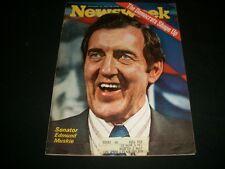 1970 NOV 16 NEWSWEEK MAGAZINE - SENATOR MUSKIE - BEAUTIFUL FRONT COVER- A498