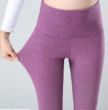 Hot Women's Winter 100% Cashmere Wool Leggings Snug Pants- Black Grey Beige Red