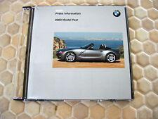 BMW OFFICIAL 3 5 7 SERIES M3 M5 Z4 Z8 X5 PRESS CD BROCHURE 2003 USA EDITION