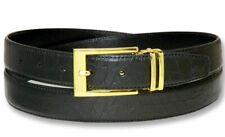Croc Pattern Crocodile Embossed Belts Bonded Leather Men's Belt Gold-Tone Buckle