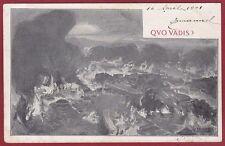 QUO VADIS 02 FILM CINEMA MUTO SILENT MOVIE 1901 Cartolina NON FOTOGRAFICA