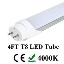 4 FT 18W T8 LED Tube Light Lamp G13 Bulbs Double-End Power 4000K MILKY LENS