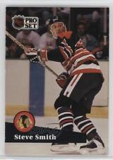 1991-92 Pro Set French #370 Steve Smith Chicago Blackhawks Hockey Card