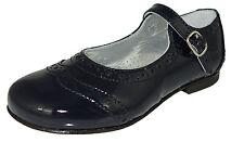 Gallucci 1835bm cuir ballerines bride chaussures bleu de Budapest Taille 24-35 NEUF
