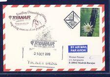 44392) Irland Ryanair FF DD/Weeze - Madrid 31.10.10, feeder mail Bosnien card