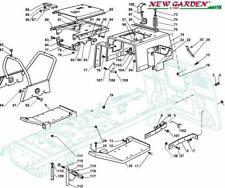 Esploso telaio 102cm TN220HE trattorino rasaerba CASTELGARDEN 2002-13 ricambi