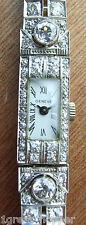 Estate LADIES Diamond Bracelet Watch 3.75ct Natural Diamonds PLATINUM Appraised