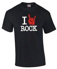 I Love Rock * Rockabilly Hardrock Heavy Metal mano punk MUSICA MUSIC Fun T-shirt