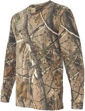 Caballeros Manga Larga Oak Tree Camo Caza Camiseta Para Hombre tamaños de disparo Algodón Top