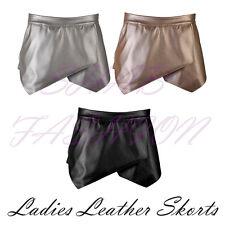 Ladies/Womens Leather Asymmetric Hem Skirt/Shorts/Skorts