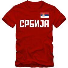 Herren T-Shirt Srbija Serbien Serbia Basketball Football WM EM XS-4XL Kyrillisch