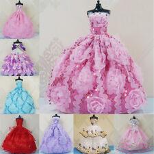 Poupée Fille Dressing Robe De Mariage Grande Queue Princesse Robe 30 cm Poupée V
