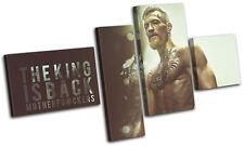 Conor McGregor UFC MMA Grunge Sports MULTI TOILE murale ART Photo Print