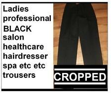 Donna Lavoro Salone Parrucchiere Massaggio Pantaloni Corti Nero NHS. NUOVA Taglia 8