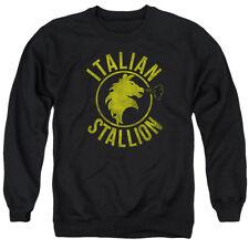 Rocky Italian Stallion Horse Mens Crewneck Sweatshirt Black