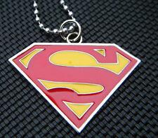 UNISEX GIFT IDEA SUPERMAN LOGO METAL SHIELD DOG TAG NECKLACE MARVEL COMIC UKSELL