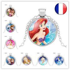 Collier Bijoux Princesses Anna Raiponce Vaiana Fée Clochette Fille Disney Cadeau