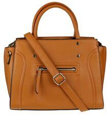 Cremallera frontal de cuero de imitación Relieve Top Handle Bag Bolso Grab sostener Diseñador De Moda