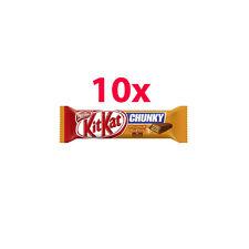 10x Nestle KITKAT Chunky Peanut Butter Chocolate Bar 10 x 42g 1.48oz