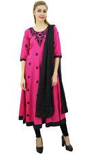 Atasi Designer Pink Embroidery Cotton Women's Anarkali Suit Ethnic Clothing