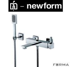 "Newform ""Forma"" 60440/C W.M Single Lever Bath&Shower Mixer w/HandShower+HoseNIB"