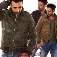 Chaqueta chaquetón de hombre eco cabello bolsillos botones cremallera TG-2240