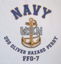 USS OLIVER HAZARD PERRY   FFG-7* FRIGATE* NAVY W/ ANCHOR* SHIRT
