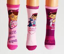 chaussettes filles neuf disney doc mcstuffins 2-3 ans, 4-6, 7-9 ans rose