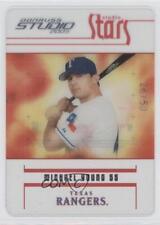 2005 Donruss Studio Stars Platinum #S-40 Michael Young Texas Rangers Card