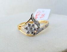 Fabulous! Solid 14 K yellow Gold Diamond Gemstone Ring