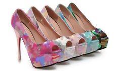 Décollte Zapatos de salón mujer talón y la meseta 13.5 cm cómodo militar 9192