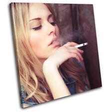 Smoking Girl Fashion SINGLE LONA pared arte Foto impresion