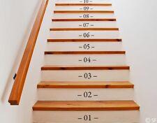 Wandtattoo Zahlen Treppennummern Flur Treppenhaus Treppe Wandaufkleber uss468