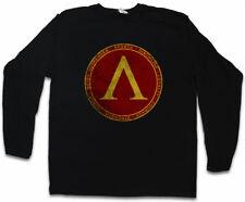 Sparta Manica lunga T-shirt poleis Polis never surrender simbolo Courage LOGO 300 sign