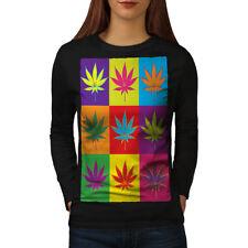 Weed Cannabis Leaf Rasta Women Long Sleeve T-shirt NEW   Wellcoda