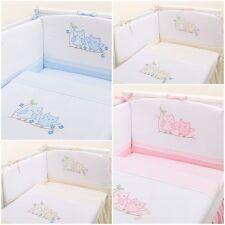 Luxury 2 ou 3 pièce lit / lit bébé ensembles de literie avec broderie chouettes
