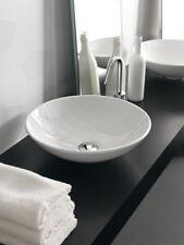 Lavandino Lavabo Tondo da appoggio Design Polis in Ceramica 41 cm -bianco o nero