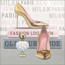Marco Fabiano: Forever Fashion V Keilrahmen-Bild Leinwand Mode High Heel Parfum
