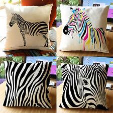 Throw Pillow Case Sofa Waist Cushion Cover Zebra Print Pillowcase Home Mirthful