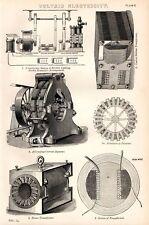 Impresión De 1880 ~ voltaicas transformadores de electricidad etc.