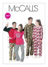 McCalls Easy SEWING PATTERN M6251 Misses/Mens/Teen Boys Tops,Pants & Jumpsuit