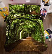 Green Fresh Tunnel 3D Printing Duvet Quilt Doona Covers Pillow Case Bedding Sets