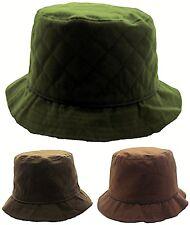 NUEVO peluche sombrero de cera Hombre Mujer Women cubo impermeable