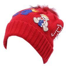 4988Y cuffia bimba Elsy Baby mix wool red hat girl