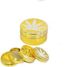 50mm 4 Part 3 Part Grass Leaf Gold Metal Magnetic Grinder wholesale...