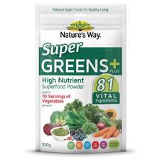 ~ NATURE'S WAY SUPER GREENS PLUS 100G HIGH NUTRIENT SUPERFOOD POWDER 81 VITAL