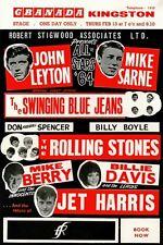 AZ34 Vintage Rolling Stones Concert Advertisement Music Poster Re-Print A3/A4
