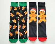 Fashion Mens Cotton Socks Christmas Gingerbread Man Casual Festival Calcetines